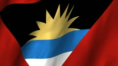Antigua Barbuda Waving Flag Stock Footage