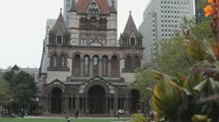 Trinity Church Boston Stock Footage