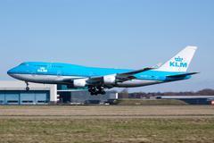 KLM Airplane - stock photo