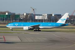 KLM Airplane taxiing Stock Photos