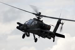 Military Apache helicopter - stock photo