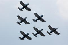 Plane formation Stock Photos
