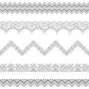 Abstract border, contour Stock Illustration