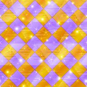 Abstract gold and lilac seamless plaid Stock Illustration