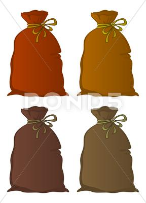Stock Illustration of bag linen, set