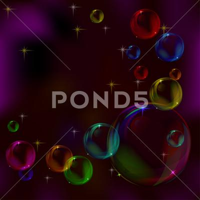 Stock Illustration of background, bubbles