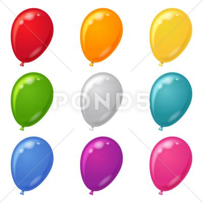 Stock Illustration of balloons, set