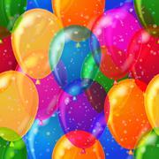 Balloon background seamless Stock Illustration