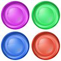 Set of round buttons Stock Illustration