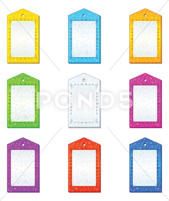 Stock Illustration of color tags, set