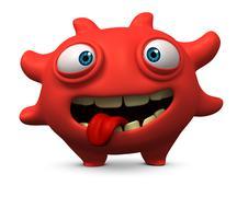 happy bug - stock illustration