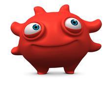 red virus - stock illustration