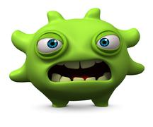 sad monster - stock illustration