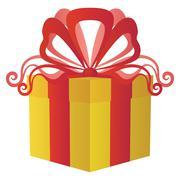 Gift box square Stock Illustration
