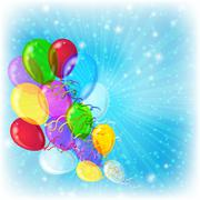 Holiday background with balloons Stock Illustration