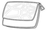 Leather wallet, contour Stock Illustration