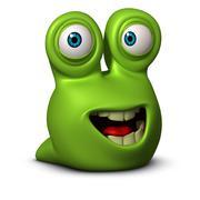 3d cartoon cute litle worm Stock Illustration