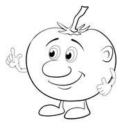 Merkin tomaattia, jäsennys Piirros