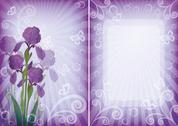 Flower background for greetings card Stock Illustration