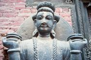 Nepal statues, temples and decorative arts Stock Photos