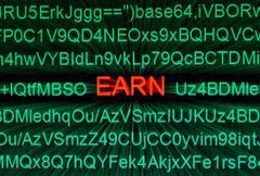 web earn - stock photo