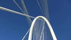 Margaret Hunt Bridge With Jet Streaking Over Head Stock Footage