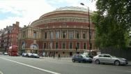 Stock Video Footage of Royal Albert Hall & London Routemaster Bus