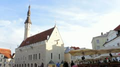 Tallinn Old Town Center Stock Footage