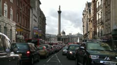 Trafalger Square with Nelsons Columb Stock Footage