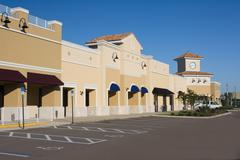 Upscale pastel commercial mall Stock Photos