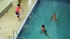 Aqua gymnastic Stock Footage