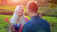 Stock Video Footage of Valentine couple