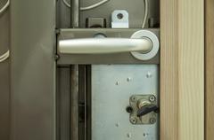 Mechanism of armored door Stock Photos