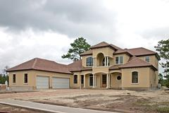 Luxury home construction - stock photo