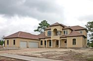 Stock Photo of Luxury home construction