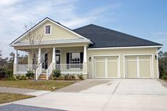 Stock Photo of Coastal Residential Home