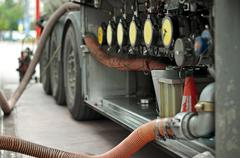 fuel truck - stock photo