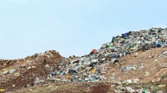 Hill of garbage Stock Footage