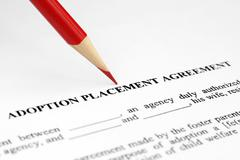 adoption placement agreement - stock photo
