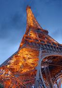 eiffel tower. - stock photo