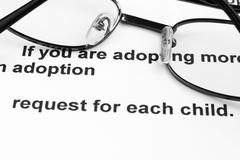 adoption agreement - stock photo