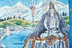 mural - stock illustration
