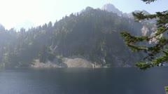 Snow Lake near Snoqualmie Pass 103337 Stock Footage