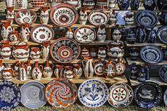 Traditional romanian ceramics 3 Stock Photos