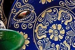 romanian traditional ceramics 3 - stock photo