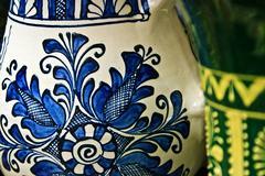 romanian traditional ceramics 4 - stock photo