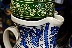 romanian traditional ceramics 12 - stock photo