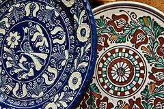 romanian traditional ceramics 16 - stock photo