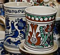 Romanian traditional ceramics 15 Stock Photos