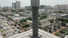 Miami Beach Alton Road Overview Stock Footage